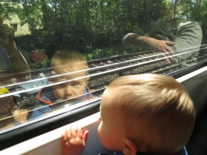 Anneliese's first S-Bahn ride, Berlin 2012