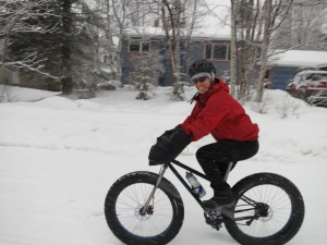 Who says you can't bike commute in the snow?