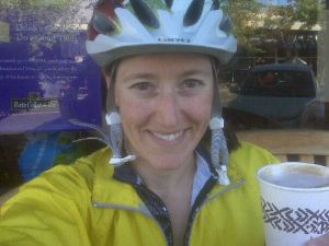 Coffee break in Orinda after the first 32 miles of my ride.