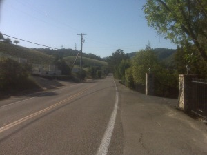 Thanks to my phone, I found my way through the 'burbs to Palomares Road!