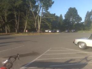 I think maybe six cars?  On a gorgeous Sunday morning?