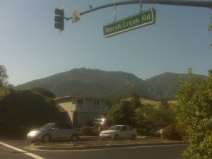 Getting a different view of Mt. Diablo, from the east side.